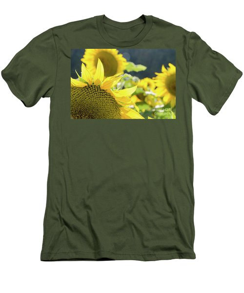 Men's T-Shirt (Athletic Fit) featuring the photograph  Sunflowers 8 by Andrea Anderegg