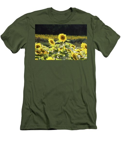 Men's T-Shirt (Athletic Fit) featuring the photograph Sunflowers 9 by Andrea Anderegg
