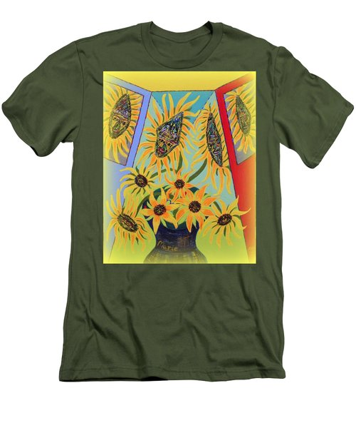 Sunflowers Rhapsody Men's T-Shirt (Athletic Fit)