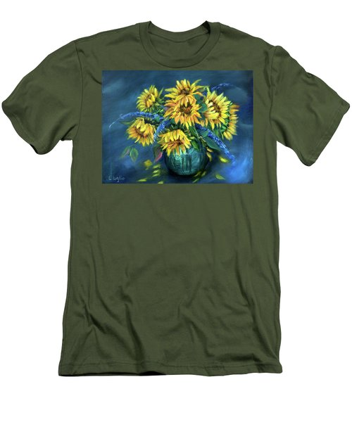 Sunflowers Still Life Men's T-Shirt (Athletic Fit)
