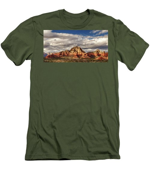 Men's T-Shirt (Athletic Fit) featuring the photograph Sunlight On Sedona by James Eddy