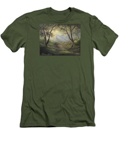 Sunlit Forrest  Men's T-Shirt (Athletic Fit)