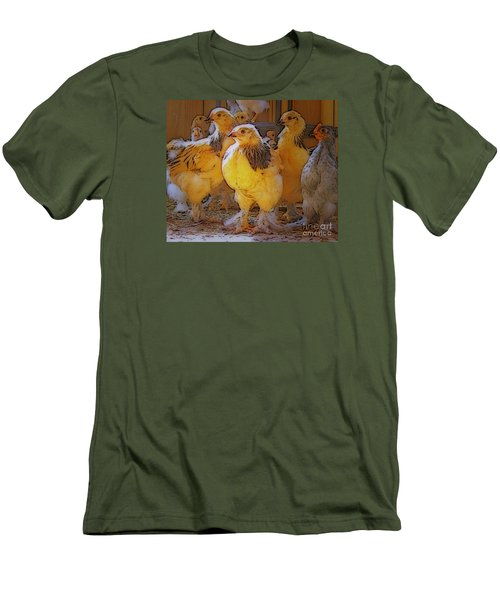 Sunny Chicks Men's T-Shirt (Slim Fit) by Ruanna Sion Shadd a'Dann'l Yoder