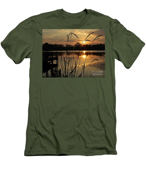 Sunrise At Grayton Beach Men's T-Shirt (Athletic Fit)