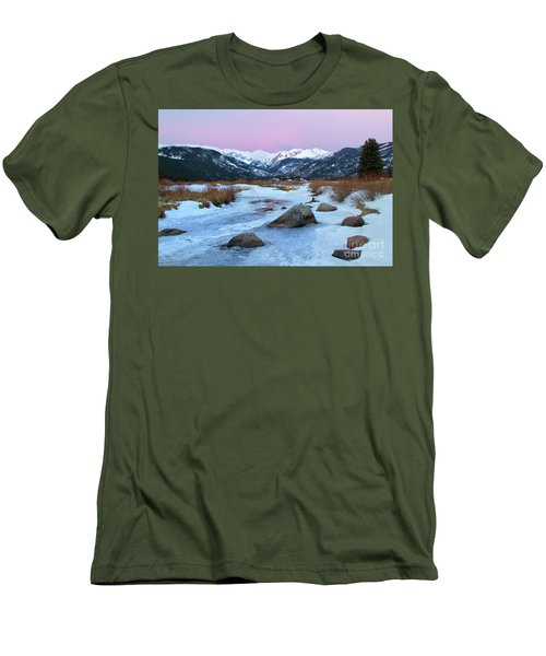 Sunrise At Rocky Mountain National Park Men's T-Shirt (Slim Fit) by Ronda Kimbrow