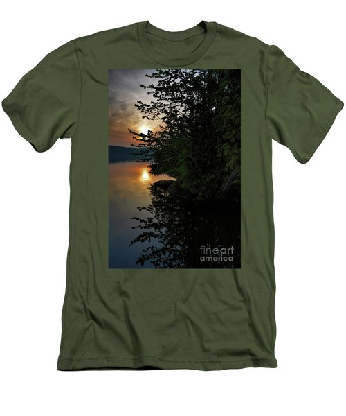 Sunrise At The Lake Men's T-Shirt (Slim Fit) by Henry Kowalski