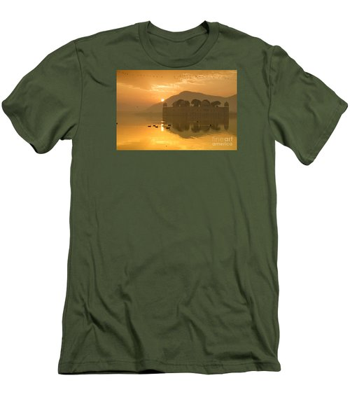 Men's T-Shirt (Athletic Fit) featuring the photograph Sunrise At Water Palace by Yew Kwang