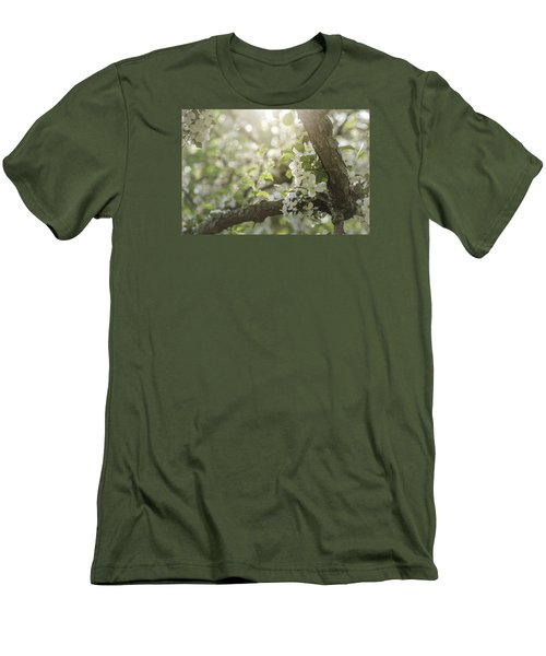 Sunrise Blossoms Men's T-Shirt (Slim Fit) by Mary Angelini
