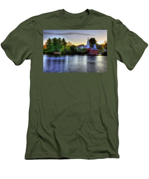 Men's T-Shirt (Athletic Fit) featuring the photograph Sunrise In The Country - Harrisville Nh by Joann Vitali