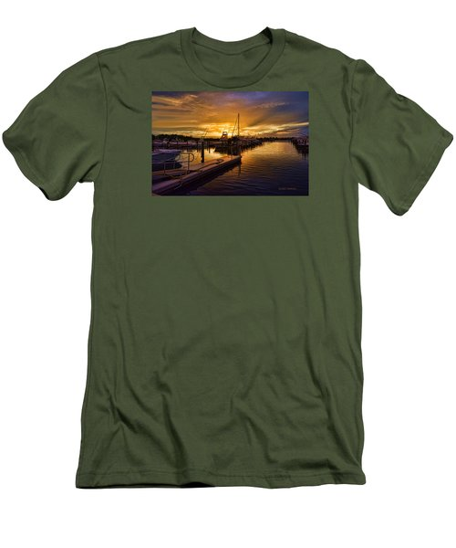 Men's T-Shirt (Slim Fit) featuring the photograph Sunrise Marina by Don Durfee