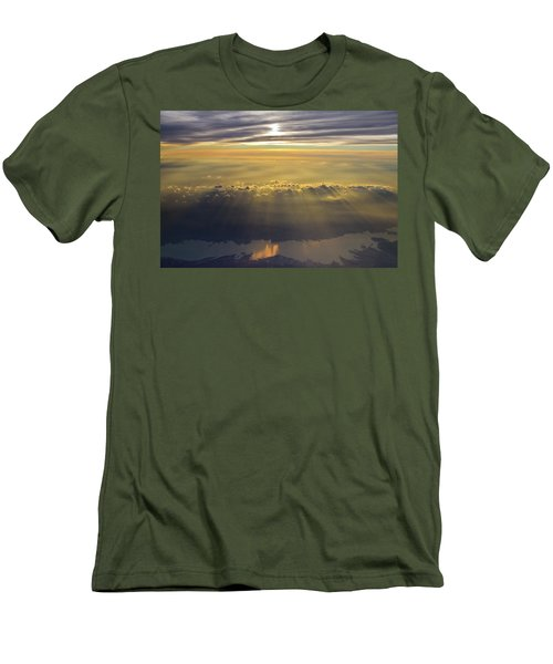 Sunrise From 30,000 Feet Men's T-Shirt (Athletic Fit)