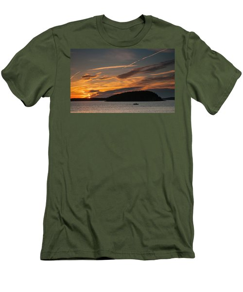 Sunrise On Bar Harbor #2 Men's T-Shirt (Athletic Fit)