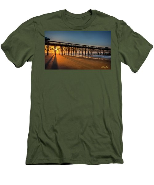 Men's T-Shirt (Athletic Fit) featuring the photograph Sunrise On Folly Island by Rikk Flohr
