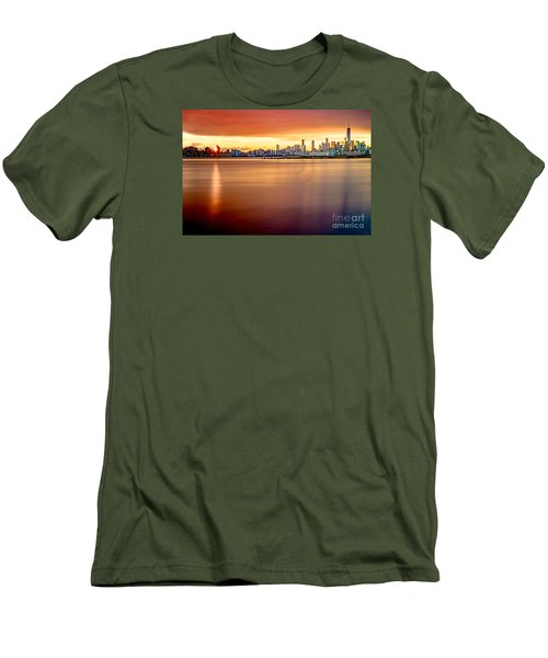 Sunrise On The Weehawken Waterfront Men's T-Shirt (Athletic Fit)