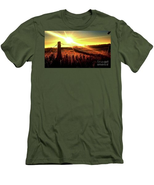 Sunrise On The Wire Men's T-Shirt (Slim Fit) by J L Zarek