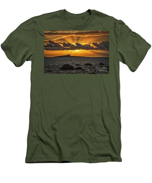 Men's T-Shirt (Slim Fit) featuring the photograph Sunrise Over Rabbit Head Island by Mitch Shindelbower
