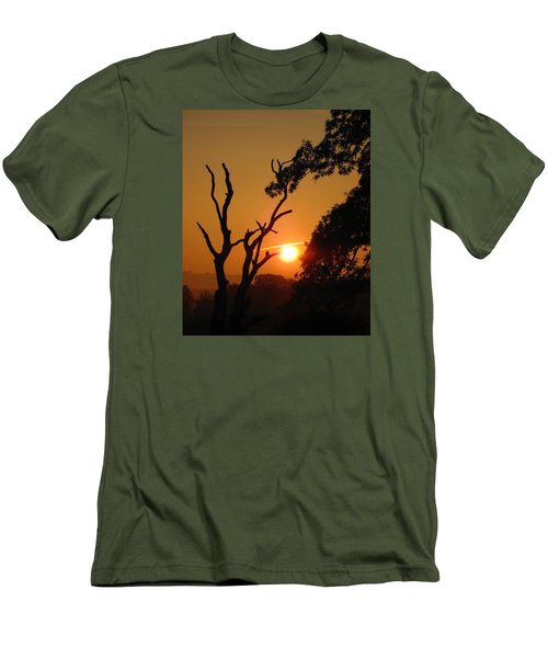 Sunrise Trees Men's T-Shirt (Slim Fit) by RKAB Works