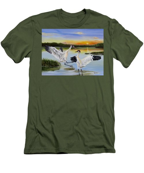 Sunrise Whooping Cranes Men's T-Shirt (Athletic Fit)