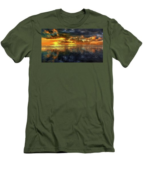 Sunset #95 Or Sunset Over The Atlantic. Men's T-Shirt (Slim Fit) by Alex Galkin