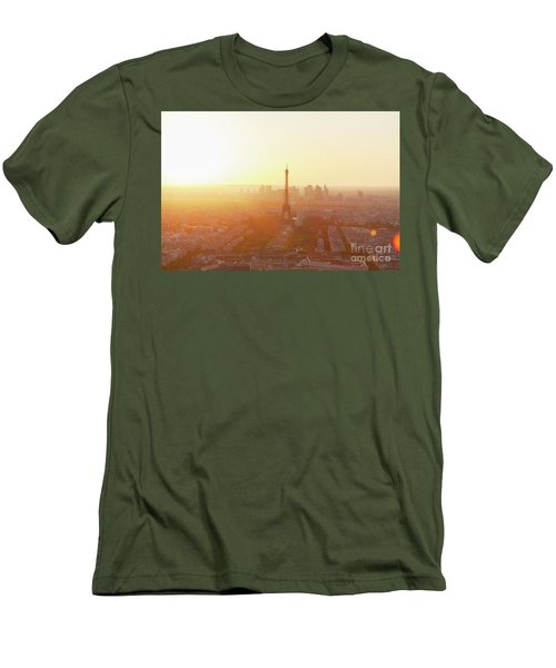 Sunset Above Paris Men's T-Shirt (Athletic Fit)