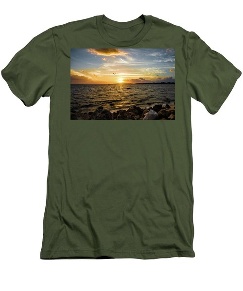 Sunset At Cedar Key Men's T-Shirt (Athletic Fit)
