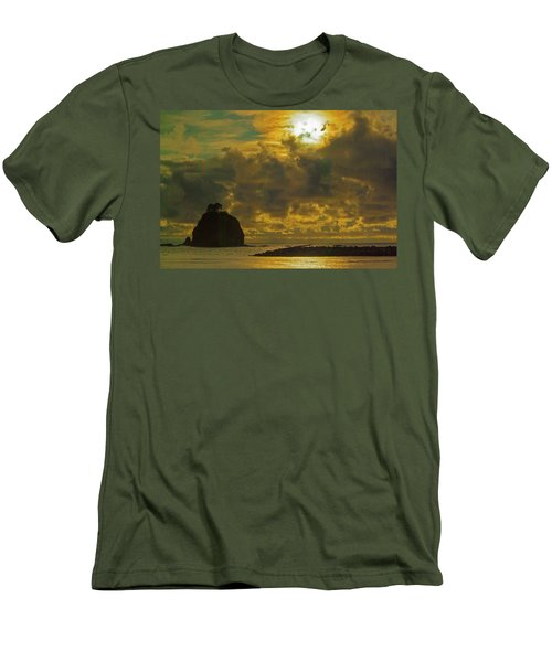 Men's T-Shirt (Slim Fit) featuring the photograph Sunset At Jones Island by Dale Stillman