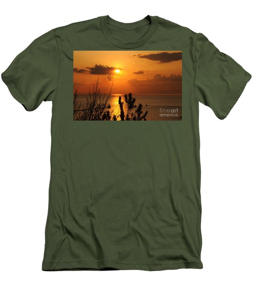 Sunset At Lake Huron Men's T-Shirt (Athletic Fit)