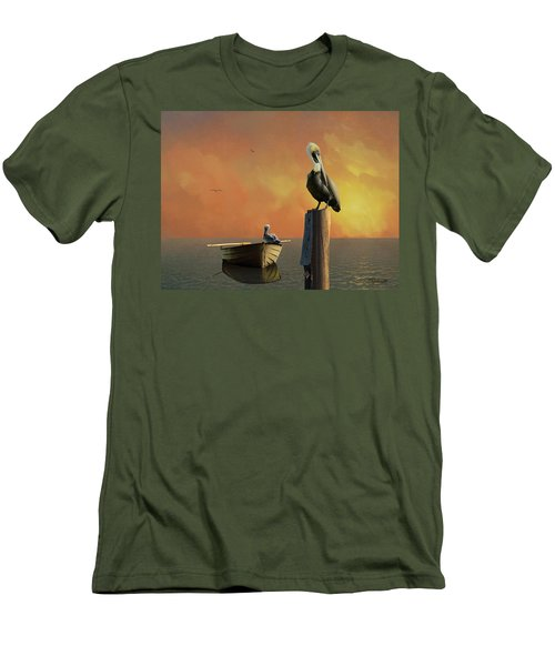 Sunset At Pelican Cove Men's T-Shirt (Athletic Fit)