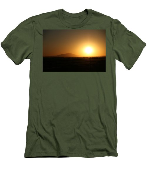Sunset At Roswell New Mexico  Men's T-Shirt (Athletic Fit)