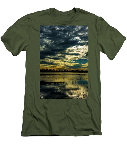 Sunset At The Wetlands Men's T-Shirt (Athletic Fit)