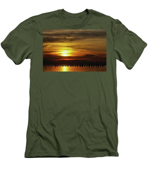 Sunset At Thessaloniki Men's T-Shirt (Slim Fit) by Tim Beach