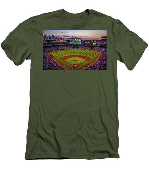 Sunset At Turner Field - Home Of The Atlanta Braves Men's T-Shirt (Athletic Fit)