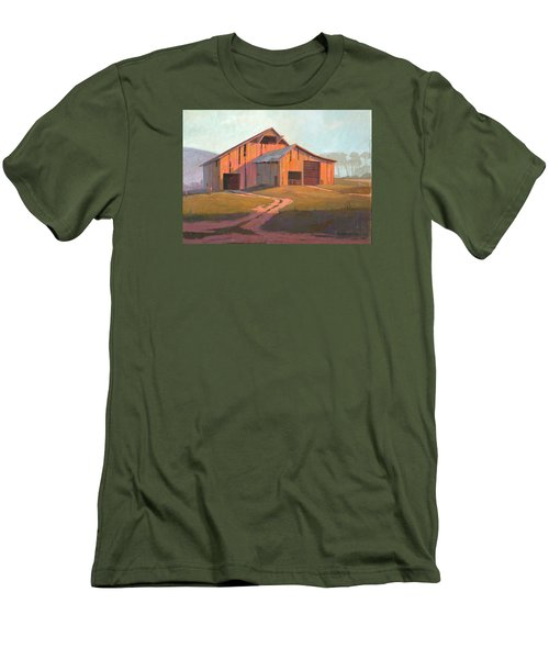 Sunset Barn Men's T-Shirt (Slim Fit) by Michael Humphries