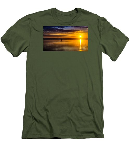 Sunset Bike Ride Men's T-Shirt (Athletic Fit)