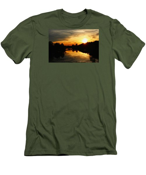 Sunset Bliss Men's T-Shirt (Athletic Fit)