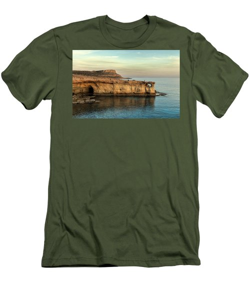 Sunset By The Cape Men's T-Shirt (Slim Fit) by Mike Santis