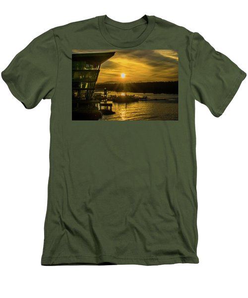 Sunset By The Convention Centre Men's T-Shirt (Athletic Fit)