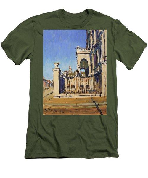 Sunset Cityhall Maastricht Entrance Men's T-Shirt (Athletic Fit)