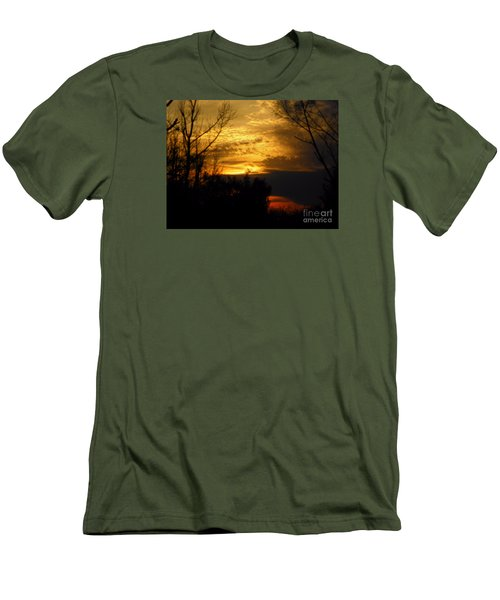 Sunset From Farm Men's T-Shirt (Slim Fit) by Craig Walters