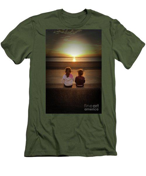 Sunset Sisters Men's T-Shirt (Slim Fit) by Lynn Bolt