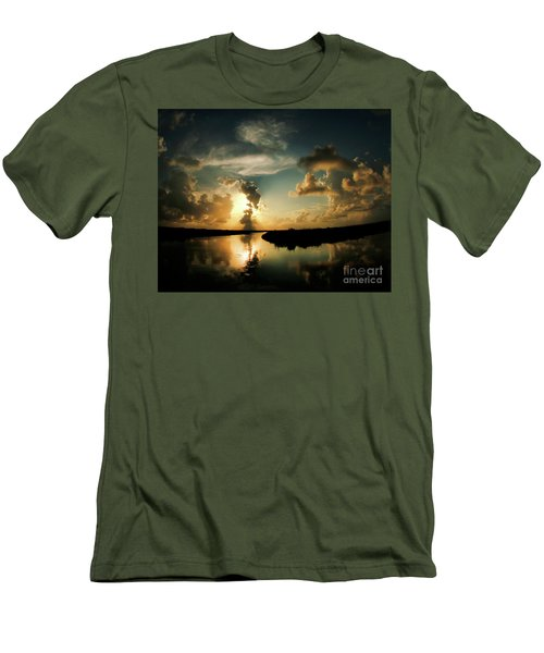 Sunset In Lacombe, La Men's T-Shirt (Slim Fit) by Luana K Perez