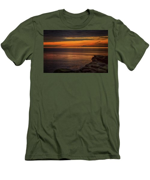 Sunset In May Men's T-Shirt (Slim Fit) by Randy Hall