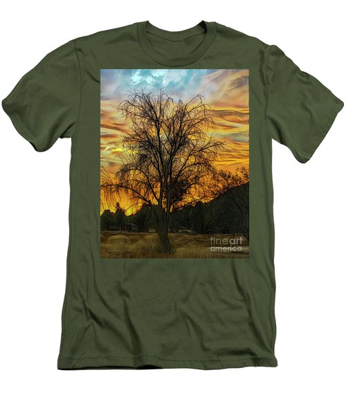 Sunset In Perris Men's T-Shirt (Athletic Fit)