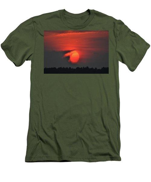 Sunset On Plum Island Men's T-Shirt (Slim Fit) by Nancy Landry