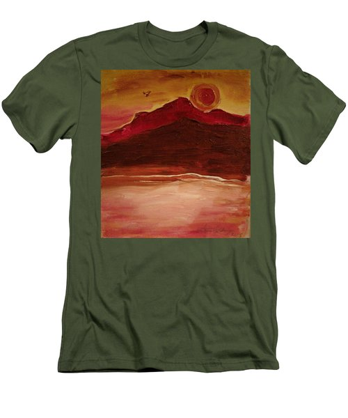Sunset On Red Mountain Men's T-Shirt (Athletic Fit)
