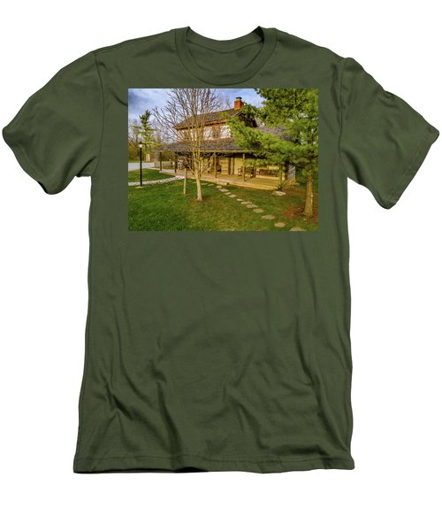 Sunset On The Cabin Men's T-Shirt (Athletic Fit)
