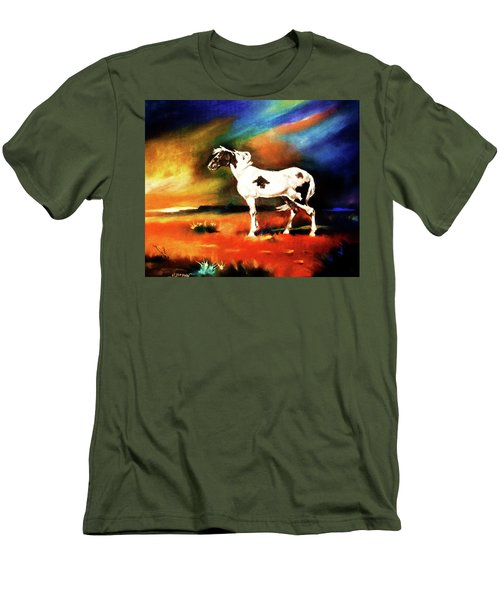 Sunset On The Plains Men's T-Shirt (Athletic Fit)
