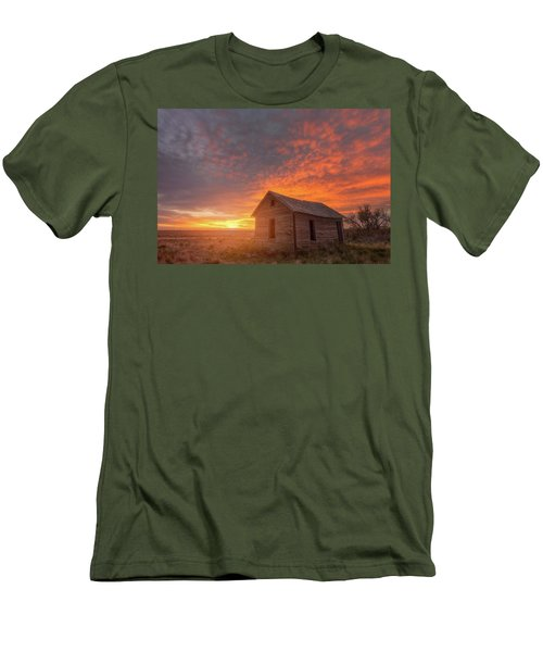 Men's T-Shirt (Athletic Fit) featuring the photograph Sunset On The Prairie  by Darren White