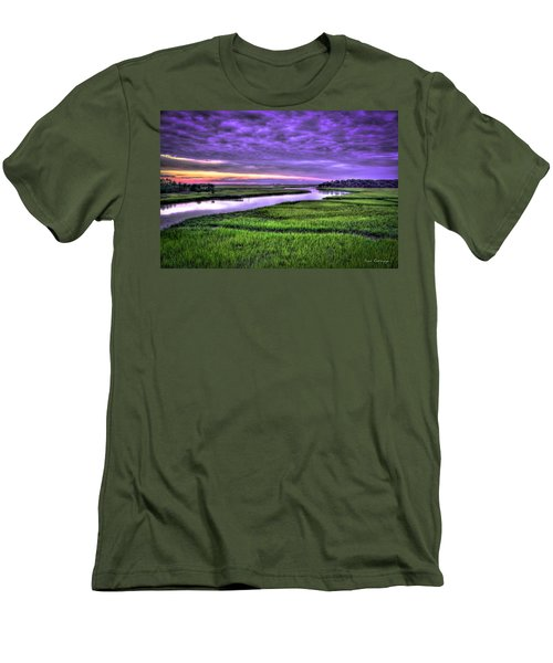 Sunset Over Turners Creek Savannah Tybee Island Ga Men's T-Shirt (Athletic Fit)