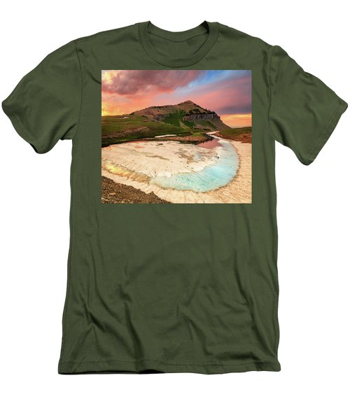 Sunset Reflection At Emerald Lake. Men's T-Shirt (Athletic Fit)